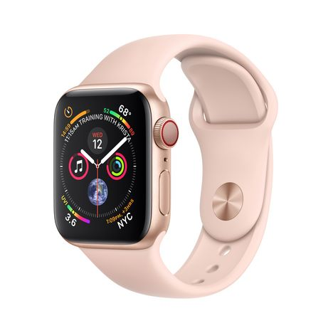 APPLE Montre connectée - Watch Series 4 - GPS + Cellular - Etanche - Or et Rose - Ecran 40mm