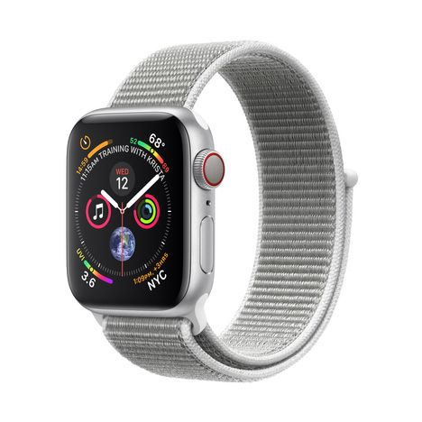 APPLE Montre connectée - Watch Series 4 - GPS + Cellular - Etanche - Aluminium et Argent - Ecran 40mm