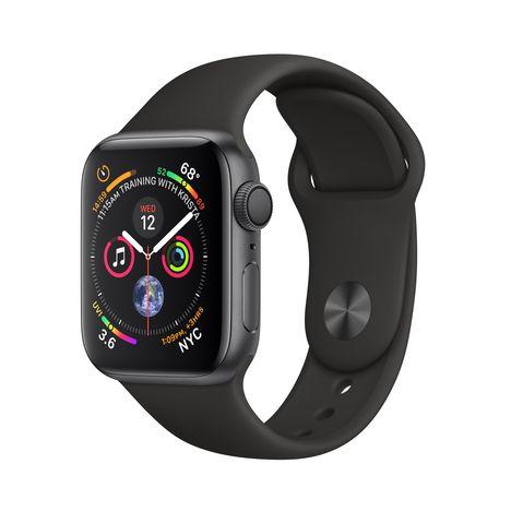 APPLE Montre connectée - Watch Series 4 - GPS - Etanche - Gris et Noir - Ecran 40 mm