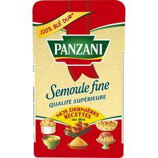 Panzani Semoule fine qualité supérieure 100% blé dur 500g