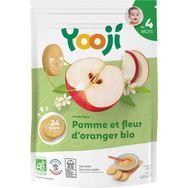 Yooji bio purée de fruits pomme fleur oranger 480g dès4mois