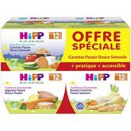 Hipp bio légumes semoule poulet saumon 4x220g dès12mois