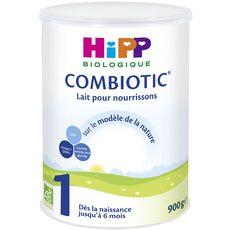 HIPP Combiotic 1 lait 1er âge en poudre bio dès la naissance 900g