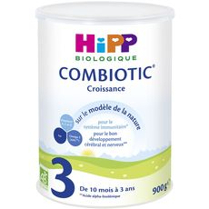 HIPP Combiotic 3 lait de croissance bio en poudre dès 10 mois 900g