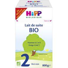 HIPP Lait 2ème âge en poudre bio dès 6 mois 800g