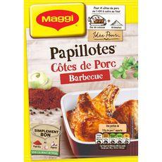 Maggi Les Papillotes côtes de porc goût barbecue 28g