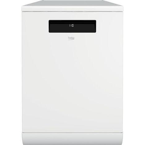 BEKO Lave vaisselle pose libre DEN48420WDOS, 14 couverts, 60 cm, 46 dB, 8 programmes,