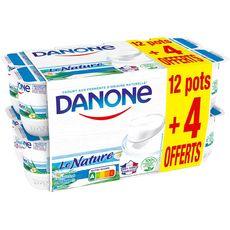 DANONE Le Nature Yaourt  12+4 offerts 16x125g