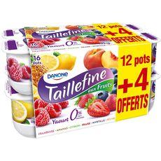 TAILLEFINE Yaourt aux fruits panaché 0% MG 16x125g