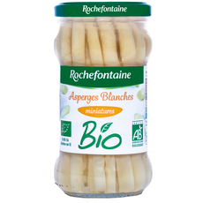 ROCHEFONTAINE Asperges blanches miniatures bio, en bocal 110g