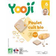 Yooji bio poulet surgelé 120g dès 6mois