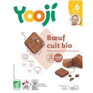 Yooji bio boeuf cuit surgelé galets120g dès 6mois