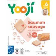 Yooji bio saumon cuit galets 120g dès 6mois