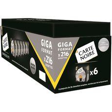 CARTE NOIRE Carte Noire Café Espresso n°8 en dosette compatible Senso 1,5kg 216 dosettes 1,5kg