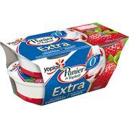 Panier Yoplait extra 0% fraise 4x120g