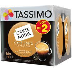 TASSIMO Tassimo Carte Noire café long 2x16dosettes 208g