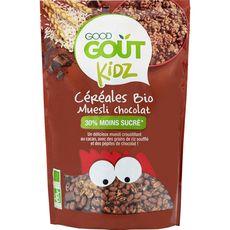 Good Goût bio kidz céréales muesli chocolat 300g