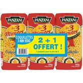 Panzani coquillettes cuisson rapide 2x500g +500g gts