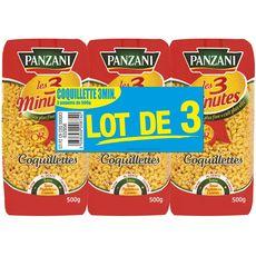 PANZANI Panzani Coquillettes cuisson rapide 3min 3x500g 3x500g