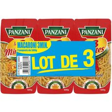 PANZANI Panzani Macaroni cuisson rapide 3x500g 3x500g