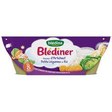 BLEDINA Blédina bol artichaut petits légumes riz 2x200g dès 8mois