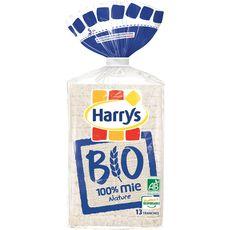 Harry's Pain de mie nature sans huile de palme sans croûte bio