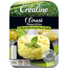 AUCHAN Ecrasé de pommes de terre à l'huile d'olive et basilic 390g