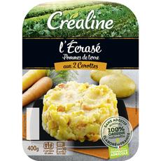 Créaline Écrasé de pommes de terre aux 2 carottes 2x200g