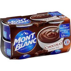 Mont Blanc crème dessert chocolat 4x125g