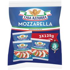 CASA AZZURA Casa Azzura mozzarella vache 3x125g