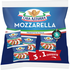 CASA AZZURA Casa Azzura Mozzarella x3+1 offerte 500g 3+1 offerte 500g