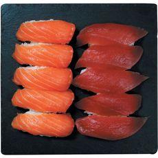 Sushi Gourmet sushi au thon x5 et au saumon x5 en barquette