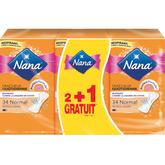 Nana protège lingerie normal plat 3x34 dont 1gt