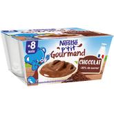 Nestlé p'tit gourmand crème dessert chocolat 4x100g 8 mois