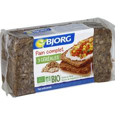 Bjorg pain complet aux 3 céréales bio 500g