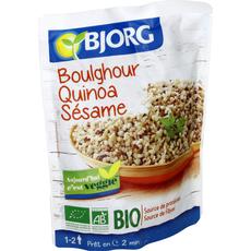 Bjorg boulgour quinoa sésame bio doypack 250g
