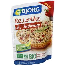Bjorg bio riz lentilles à l'indienne doypack 220g