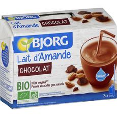 Bjorg lait d'amande chocolat bio 3x20cl