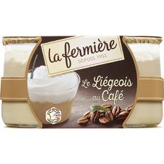 LA FERMIERE Liégeois au café 2x130g