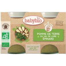 Babybio pomme de terre épinards 2x130g dès 4 mois