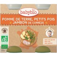 Babybio pomme de terre petits pois jambon 2x200g dès8mois