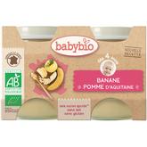 Babybio pot bio pommes bananes dès 4 mois 2x130g