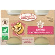 Babybio pot bio pommes bananes 2x130g  dès4mois