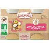 Babybio bio délices de fruits 2x130g