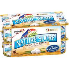 YOPLAIT Yaourt nature au sucre de canne 16x125g