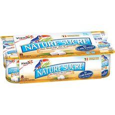YOPLAIT YOPLAIT Yaourt nature au sucre de canne 8x125g 8x125g