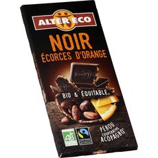 Alter Eco chocolat noir orange bio 100g