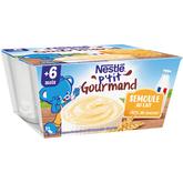 Nestlé p'tit gourmand semoule lait 4x100g dès 6 mois
