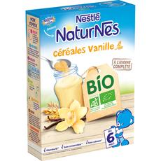 Nestlé bio p'tite céréale vanille en poudre 240g dès 6mois