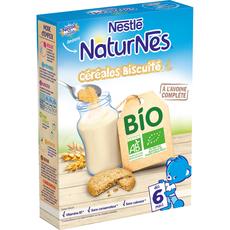 NESTLE Nestlé Naturnes céréales biscuités bio en poudre dès 6 mois 240g 240g